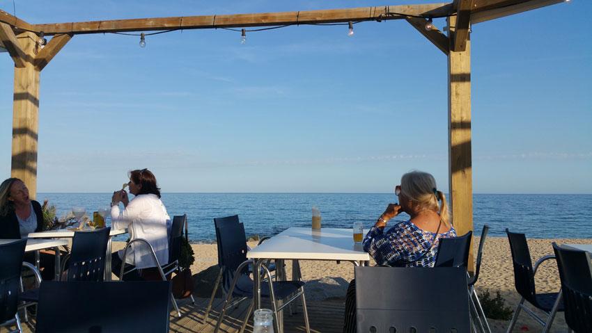 Nearest beach at Caldes d'Estrac