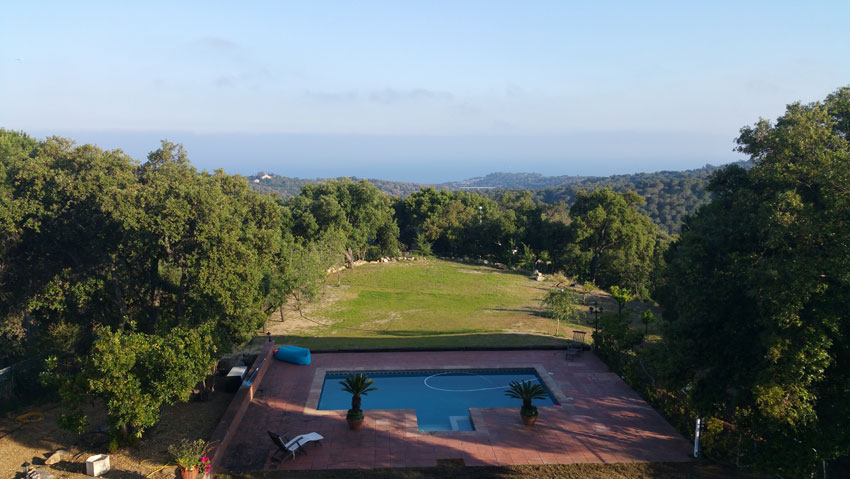 Sea and garden view Villa Costa Barcelona