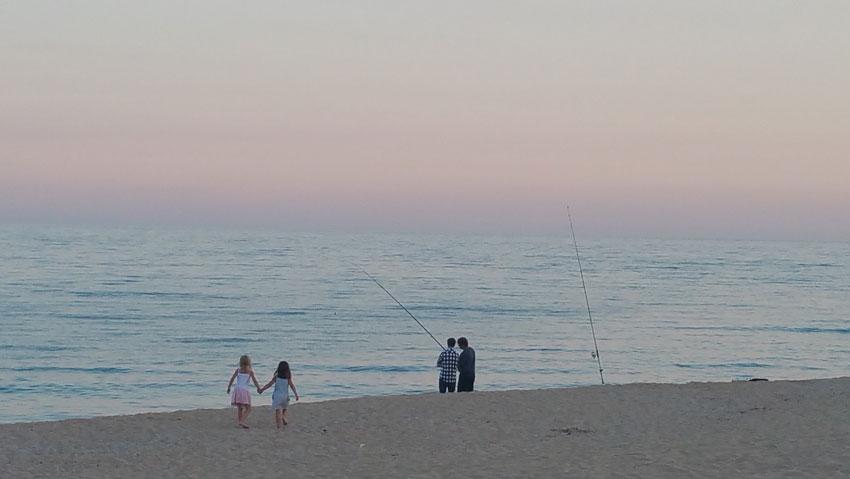 Nearest beach Caldes d'Estrac sunset