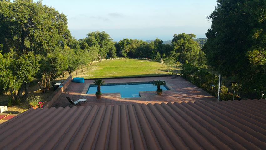Sea view Villa Costa Barcelona terrace roof